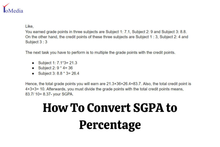 SGPA to percentage