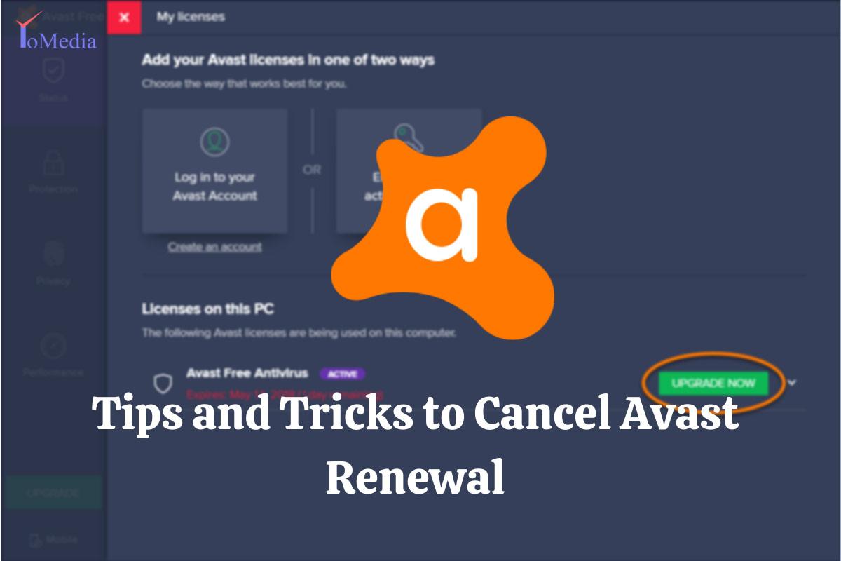 cancel avast renewal