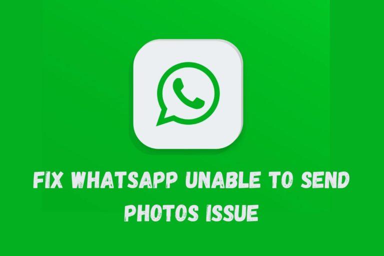 whatsapp not sending photos